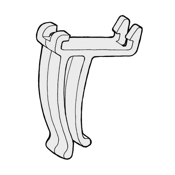 Square 100 avipoint gutter clips