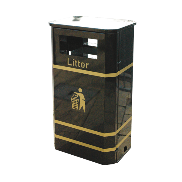Square 736 metal bait safe bin