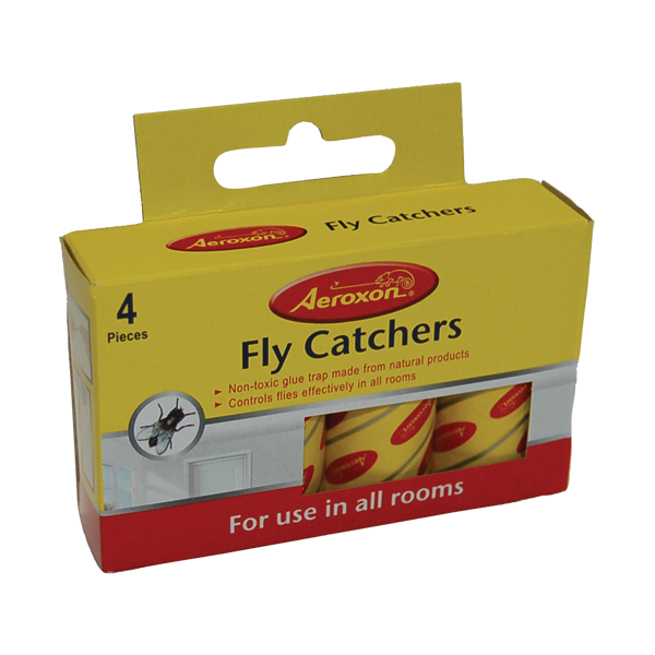 Square sticky fly paper pack of 4