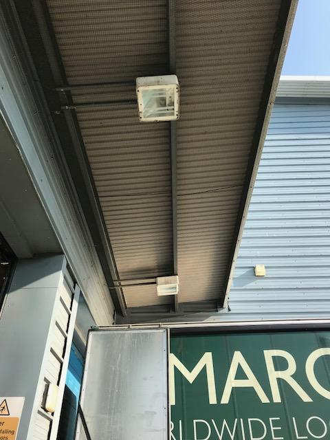Abate complete bird proofing of canopies above loading bays in Chelmsford